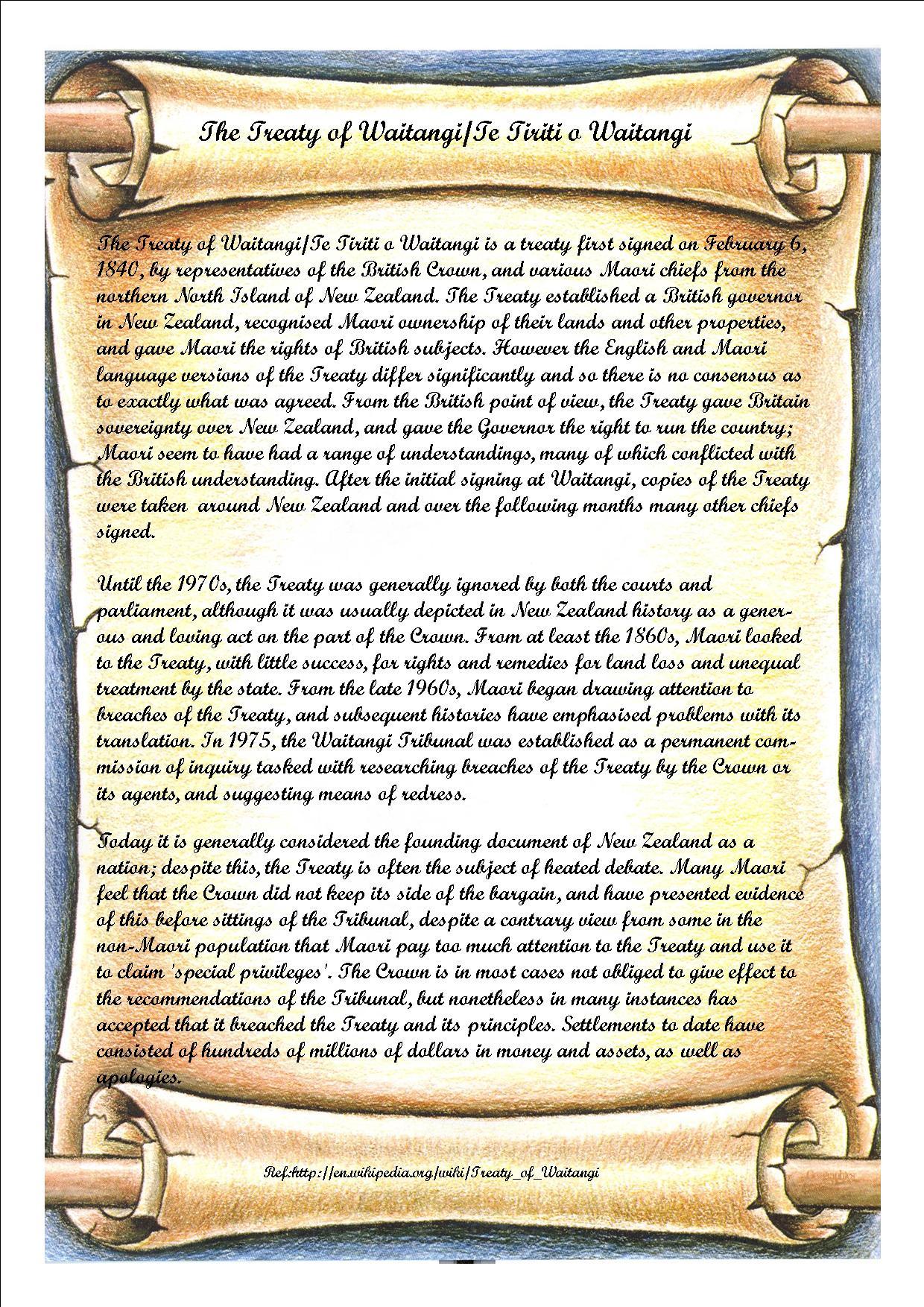 Treaty Of Waitangi Essay Examples