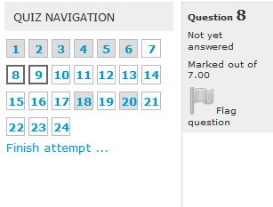quiz navigation